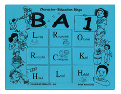 B A-1 Character-Education Bingo