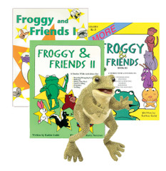 Froggy & Friends 3-Pack  with Frog Puppet