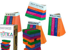 Totika Stacking Game with 4 Sets of Cards