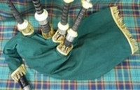 Corduroy Bagpipe Bag Cover w/ Fringe