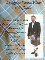 J. Higgins Formal Wear Kilt Outfit