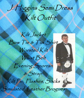 J. Higgins Semi Dress Kilt Outfit