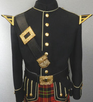Black & Gold Doublet with Gold Buttons
