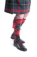 Modern Red Argyle Hose