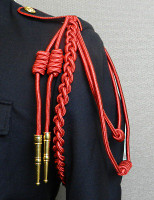 Red Shoulder Cords with Gold Tips