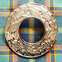 Polished Thistle Plaid Brooch