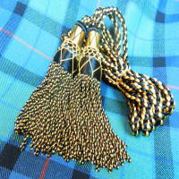 Black and Gold Silk Drone Cords