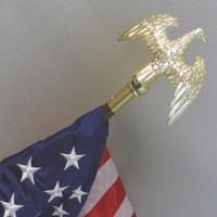 Old Glory, Eagle Finial, Oak and Brass pole