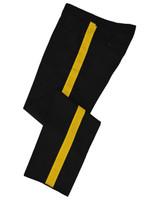 Black w/ Gold Stripe Honor Guard Pants