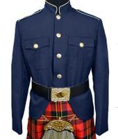 Navy & Gold Class A Kilt Jacket