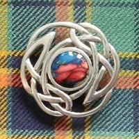 Heathergem Brooch