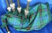 Tartan bagpipe bag cover