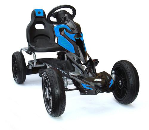 Thunder - Eva Rubber Wheel Tyres Go Kart / Cart -Orange & Blue- 4-10 Years (1504-BLUE)