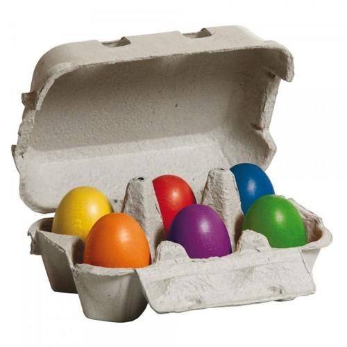 Erzi Wooden Coloured Eggs