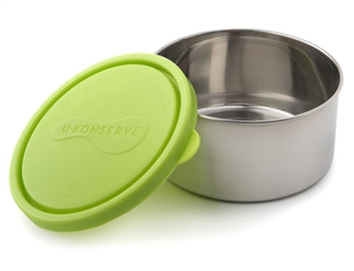 Kids Konserve Round Food Container 16 oz - Green