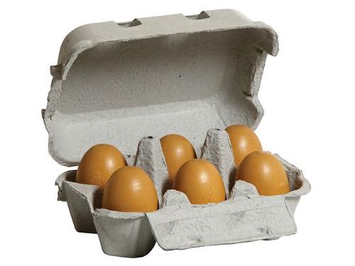 Erzi Wooden Brown Eggs