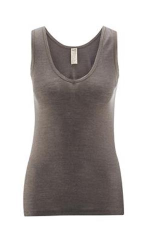 Living Crafts Wool/Silk Sleeveless Tank - Charcoal