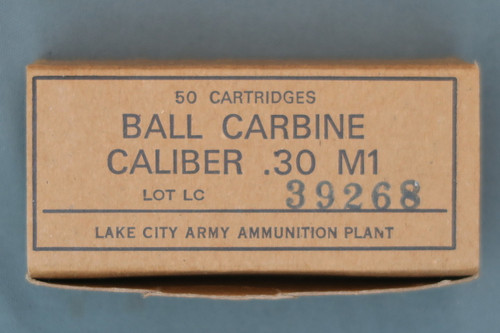 Lake City 30 Carbine Ball Ammo
