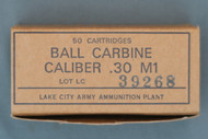 Lake City 30 Carbine Ball Ammo