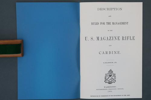 Description and Rules for the Managment of the US Magazine Rifle and Carbine 1894