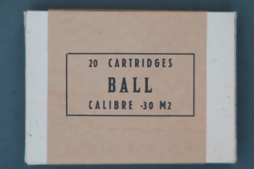 20 Cartridges Ball Calibre .30 M2