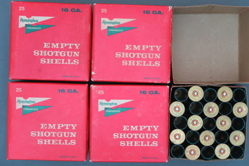 Remington 16 Gauge Empty Primed Shotgun Shells