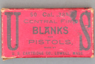 50 Cal. 38 Central Fire Blanks for Pistols Made By U. S. Cartridge Co.