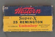 Western Super-X 25 Remington 117 Grain Lubaloy Soft Point Bullet Ammunition Top