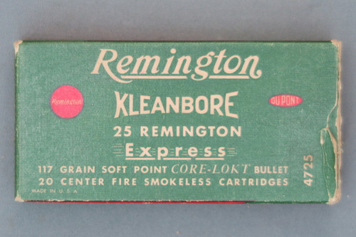 25 Remington Kleanbore Express Ammo Top