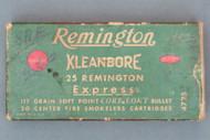 Remington Kleanbore 25 Remington Express Ammunition Front