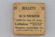 Western Cartridge Co. 30/30 Winchester 150 Gr. Op. Pt. Exp. Bullets Top