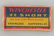 Winchester 22 Short 1938 Issue