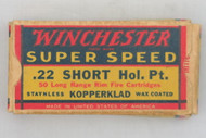 Winchester 22 Short Hollow Point 1938 Issue Top