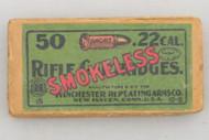 Winchester 22 Short Smokeless Rifle Cartridges Lid