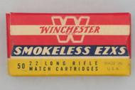 Winchester Smokeless EZXS 22 Long Rifle Match Cartridges 1947 Issue Top