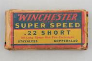 Winchester Super Speed 22 Short 1939 Issue Top