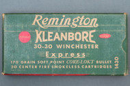 Remington Kleanbore 30-30 Winchester Express 170 Grain Cartridges Top