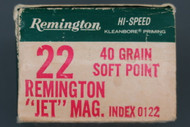 22 Rem Jet Magnum Hi-Speed Cartridges Left End
