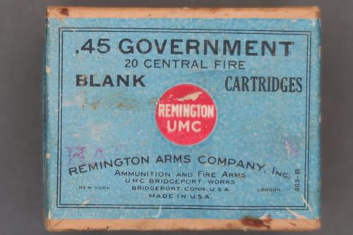 Remington UMC .45 Government Central Fire Blank Cartridges Top
