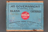 Remington UMC .45 Government Central Fire Blank Cartridges Top