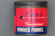 Guns Transparent Powder Funnel in Original Can Front Label