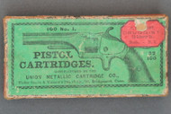 100 No. 1 Pistol Cartridges Manufactured By The Union Metallic Cartridge Co. Top