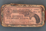 32 Caliber Long No. 2 Pistol Cartridges With Swaged Bullets By UMC Co. Top