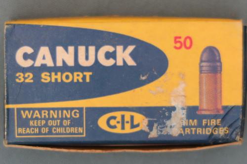 Canuck 32 Short Rimfire Shooter Ammo Box Top