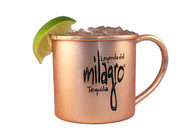 millagro logo copper moscow mule mug