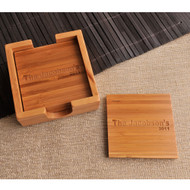 Personalized Bamboo Coasters Set of 4
