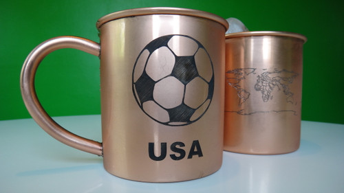Set of 2 Personalized Copper Mugs