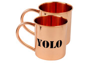 Personalized Copper Moscow Mule Mug Set of 2