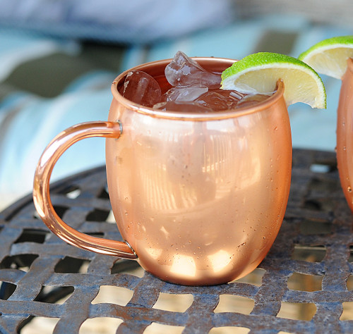 10 Pack of 16 oz Barrel Copper Moscow Mule Mug