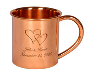 Custom Engraved Copper Moscow Mule Mug